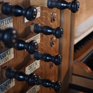 Register der Schnitger-Orgel in Pellworm